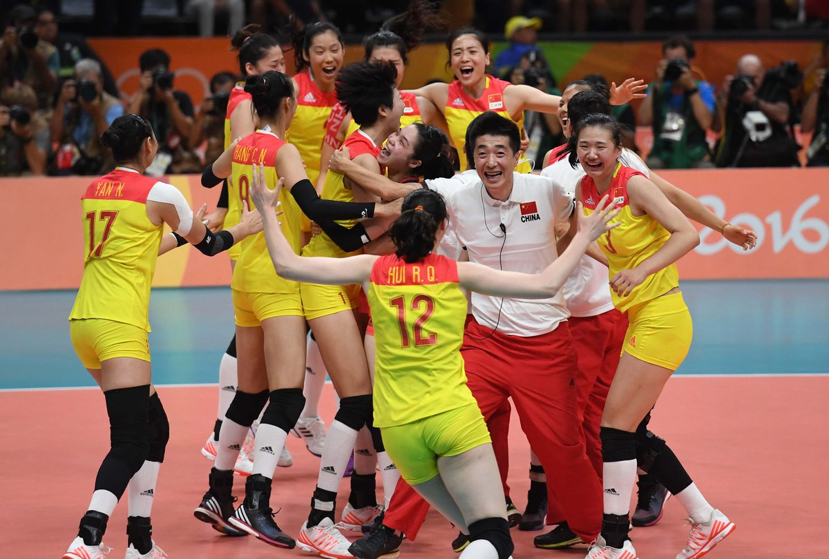 China women volleyball team defeated serbia 3-1 to claim ...