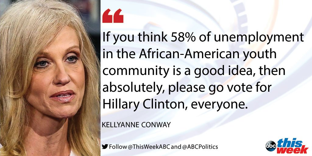 .@KellyannePolls says Trump is trying to tell African-American voters 'we can do better.' #ThisWeek