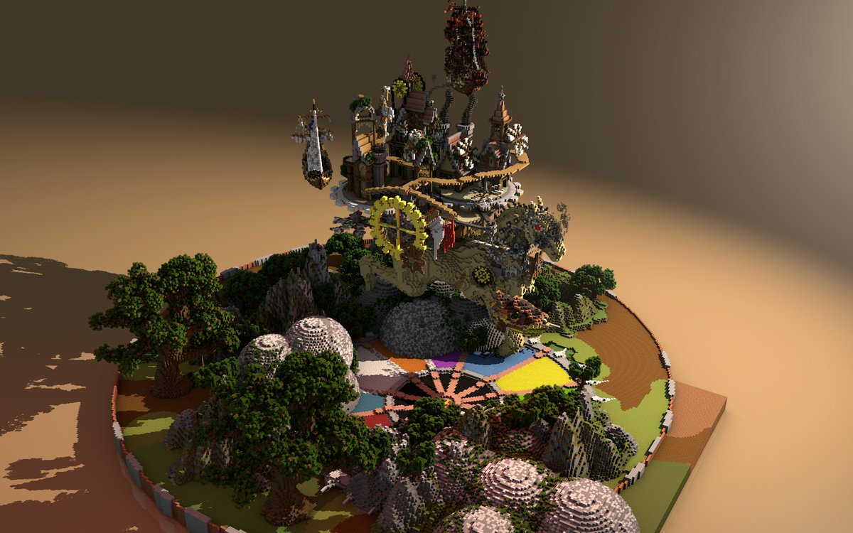 #Geek Awesome of the Day: #Steampunk #Minecraft 3D Render via @_Mydelko_ #SamaGeek