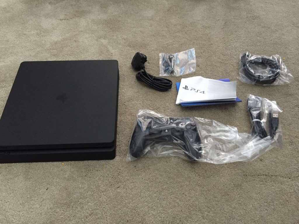 The Ps4 Slim Is Real Confirmed Sony Playstation 4 1tb Garansi Distributor Cuh 2016b Cant Help You With A Pic Of It Turned On But Heres Box Contents