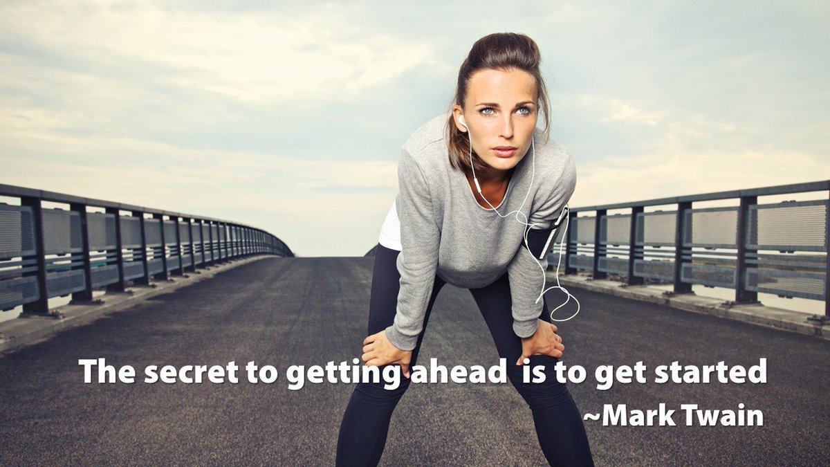 The secret to getting ahead is to get started> #inspiration #ThinkBigSundayWithMarsha https://t.co/5gVgC7pR2d