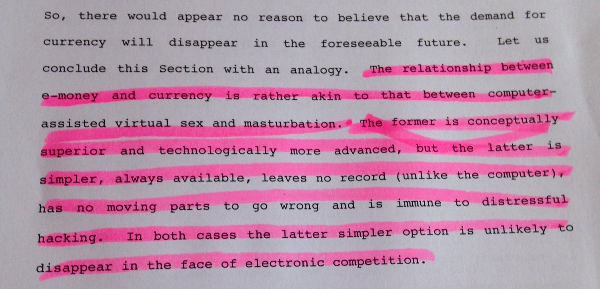 The case against emoney as expressed by Charles Goodhart & Krueger in a 2001 paper. Put in, err, explicit terms https://t.co/hNeZF7H4OE