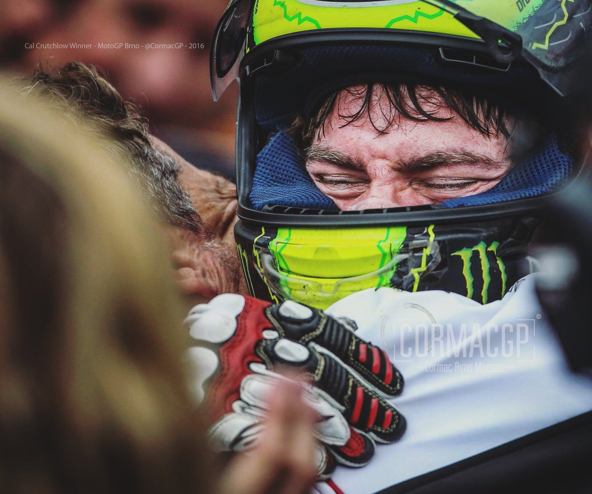 Nobody deserves this more! So happy to be able to take this.. @calcrutchlow, @MotoGP Brno ! https://t.co/8GPhuxc5gl