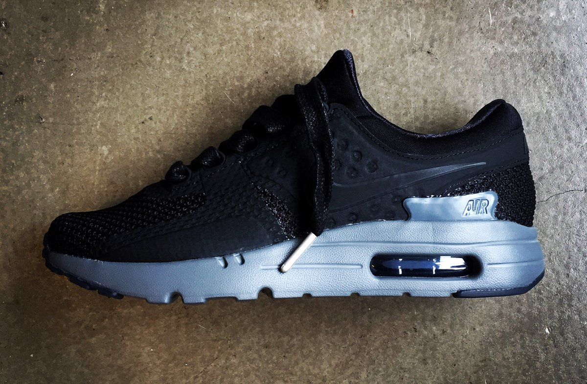 8ca4121cd0a33 ... where can i buy wellgosh on twitter nike air max zero qs triple black  available in