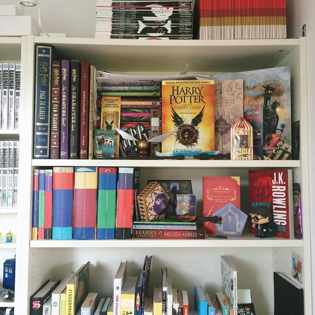 Too much stuff for just one Harry Potter shelf. https://t.co/VRChhFYDex https://t.co/mrbn80SkaC