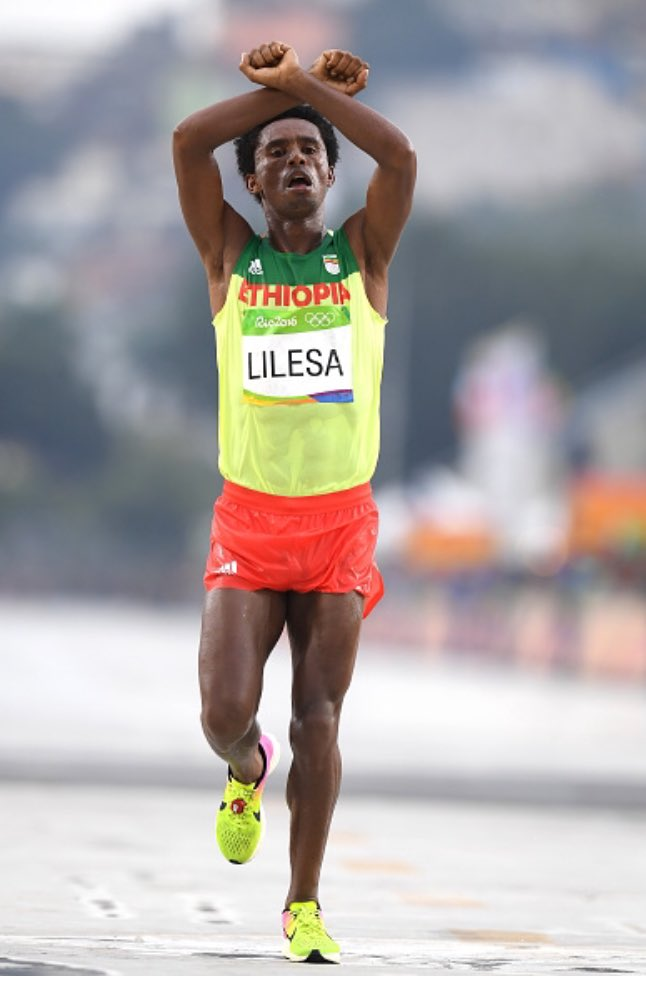 Thumbnail for Feyisa Lelisa: 'The bravest act of the 2016 Olympics.'