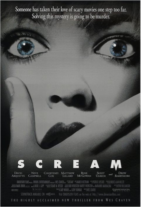 """Someone has taken their love of scary movies one step too far."" 20th anniv of Wes Craven's 1996 slasher SCREAM/9pm https://t.co/H9JF0ZcOtm"