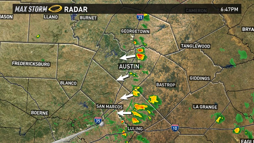 Radar Update: Isolated downpours are moving in from the east. Forecast