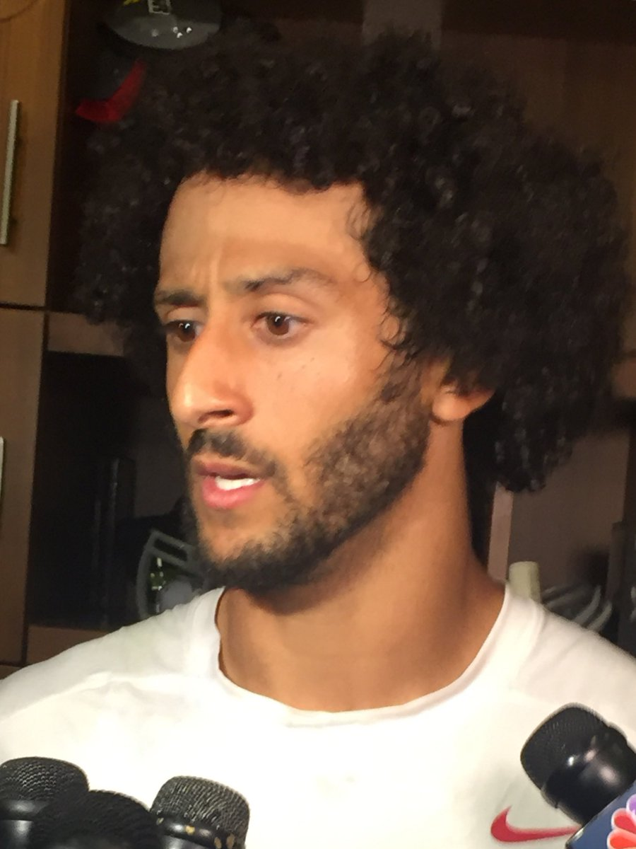 QB Colin Kaepernick says oppression & police brutality must stop. Kap: