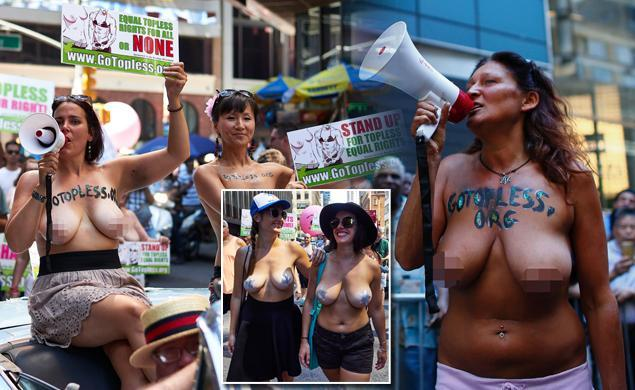 Here's how New Yorkers celebrated Go Topless Day