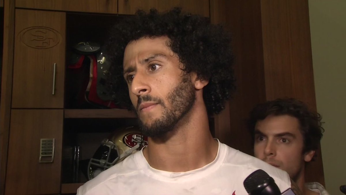 RAW VIDEO: 49ers' Kaepernick will sit through anthem until there's change
