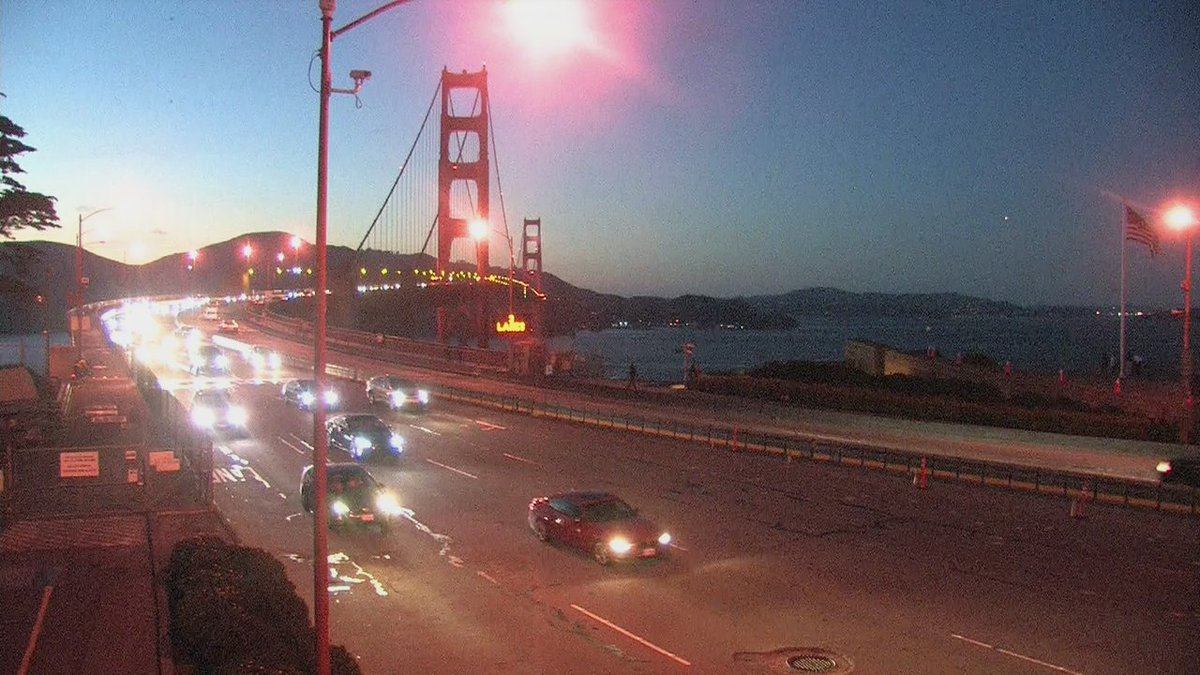 The Golden Gate in the clear this evening.
