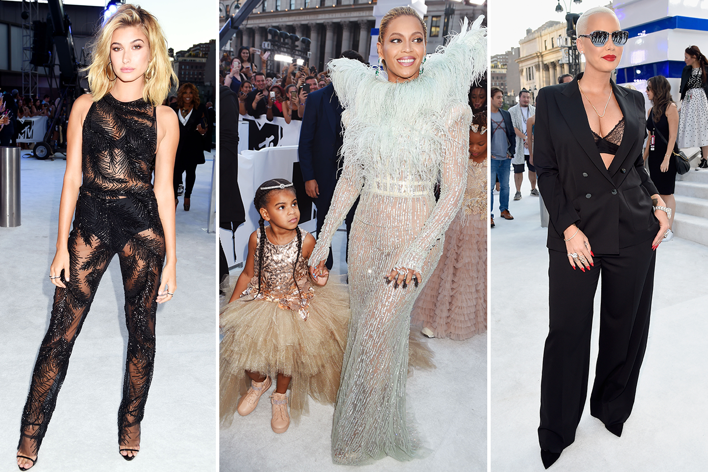 All the white carpet looks you need to see from the #VMAs https://t.co/JpJm9eacB6 https://t.co/ThyCCjkRyw