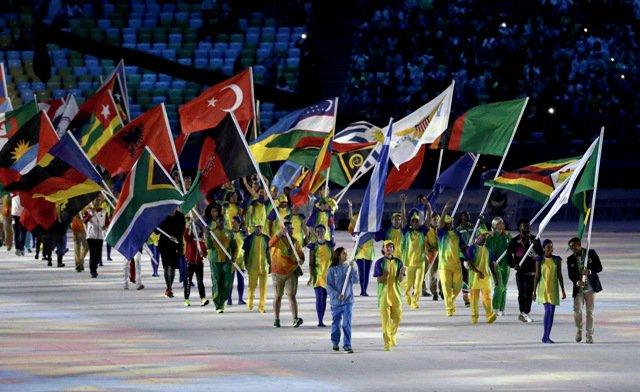 Resultado de imagen de desfile juegos olimpicos
