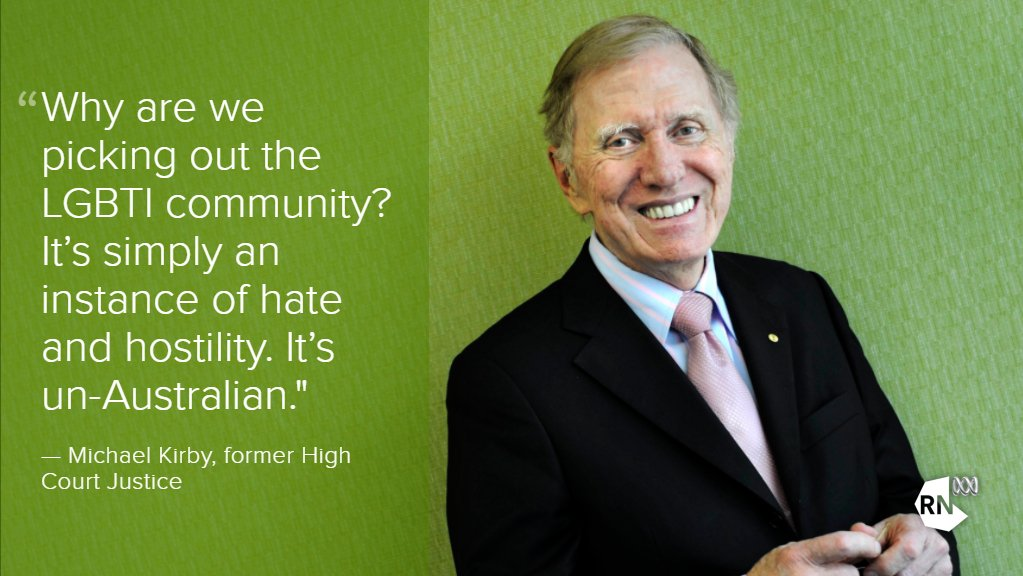 Michael Kirby says a plebiscite is an attempt to delay or defeat same-sex marriage https://t.co/l4Vqu5mlQO https://t.co/FjcxtVIcJl