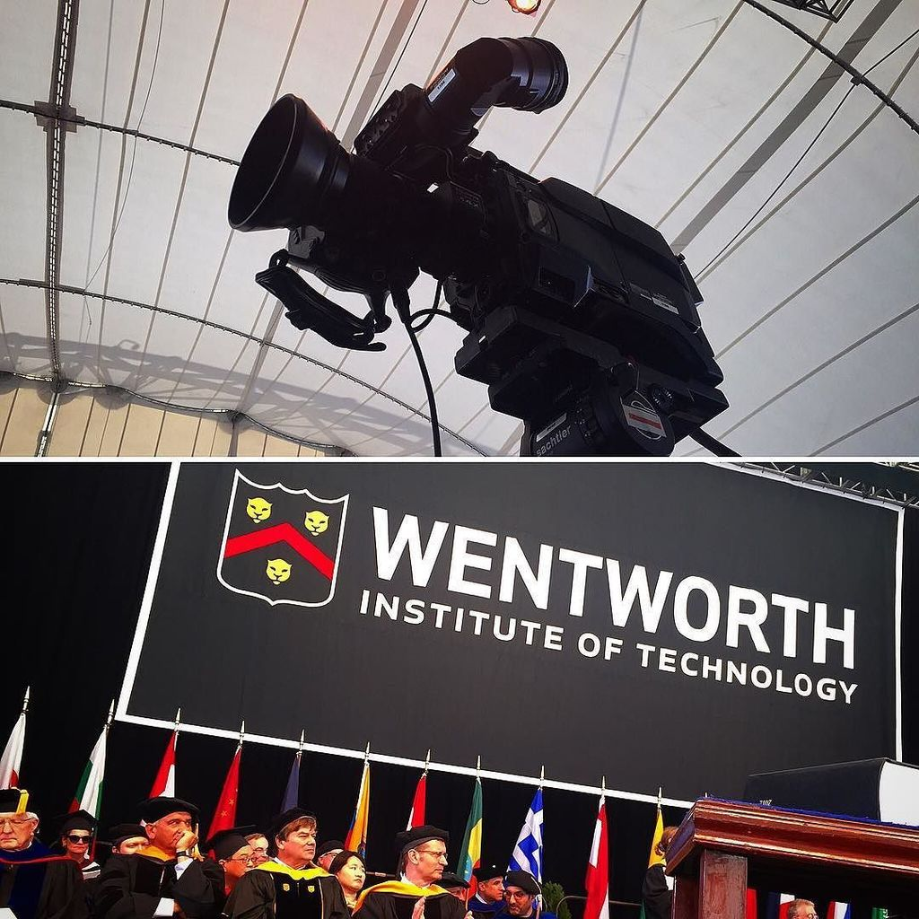 Spending our Sunday producing the  #wentworth #commencement from #bluehillsbankpavilion today. Congratulations grad…