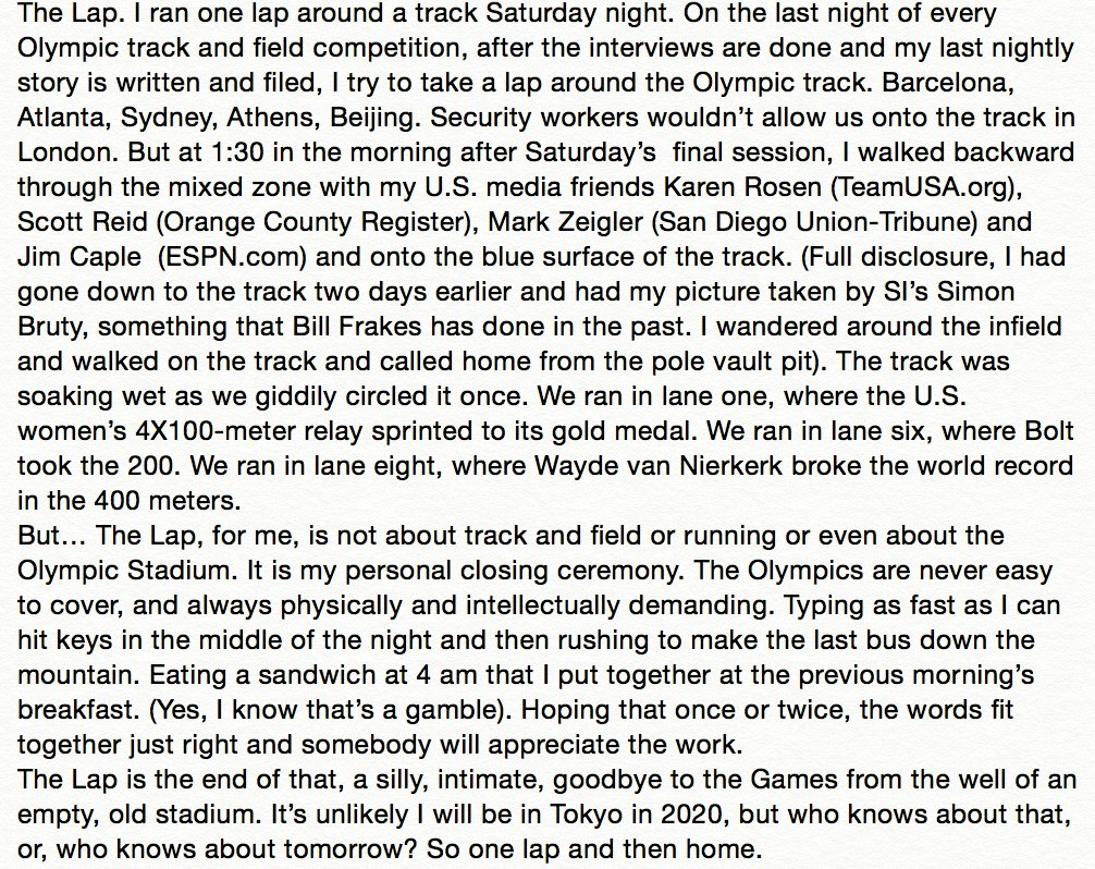 The Lap: A final night Olympic writers' tradition: https://t.co/AcuHK6srap