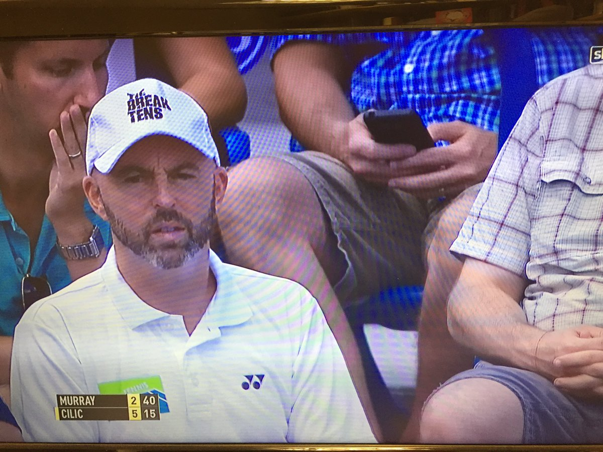 Andy murray twitter - Tie Break Tens On Twitter Andy Murray 4 5 Marin Cilic In The Cincinnati Final Jamie Delgado Rocking The Cool Tiebreaktens Cap Https T Co I72rbwpdxw