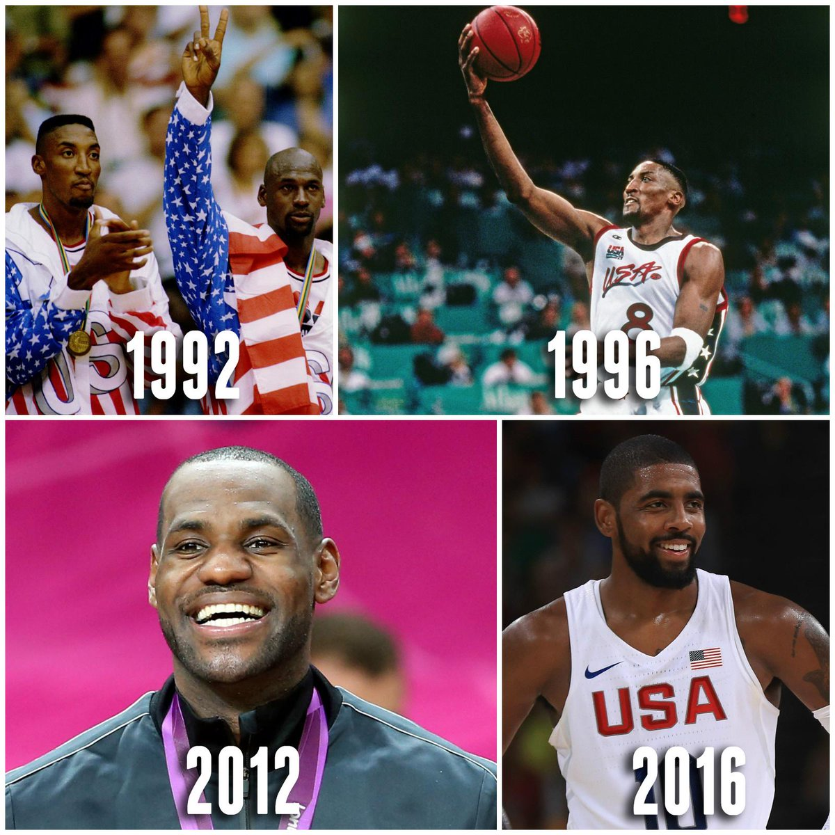 detailed look abe37 2adbf kyrie irving joins mj scottie amp lebron as only people to win nba title  amp olympic