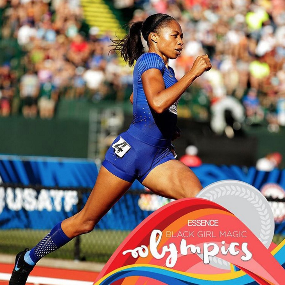64d1eeaee sprinter allyson felix is the most decorated female american athlete at  this years olympics blackgirlmagicolympics