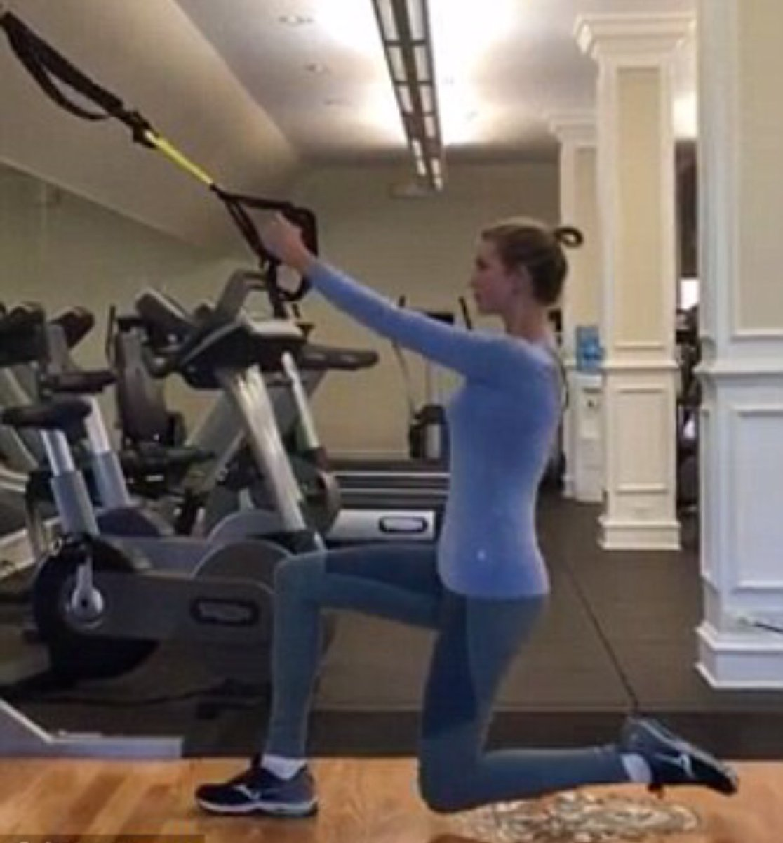 Ivanka working hard in the gym.