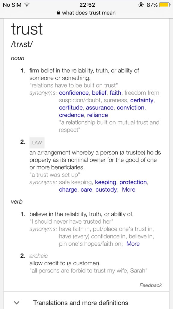 Mia On Twitter Trust Someone Pls Explain The Meaning