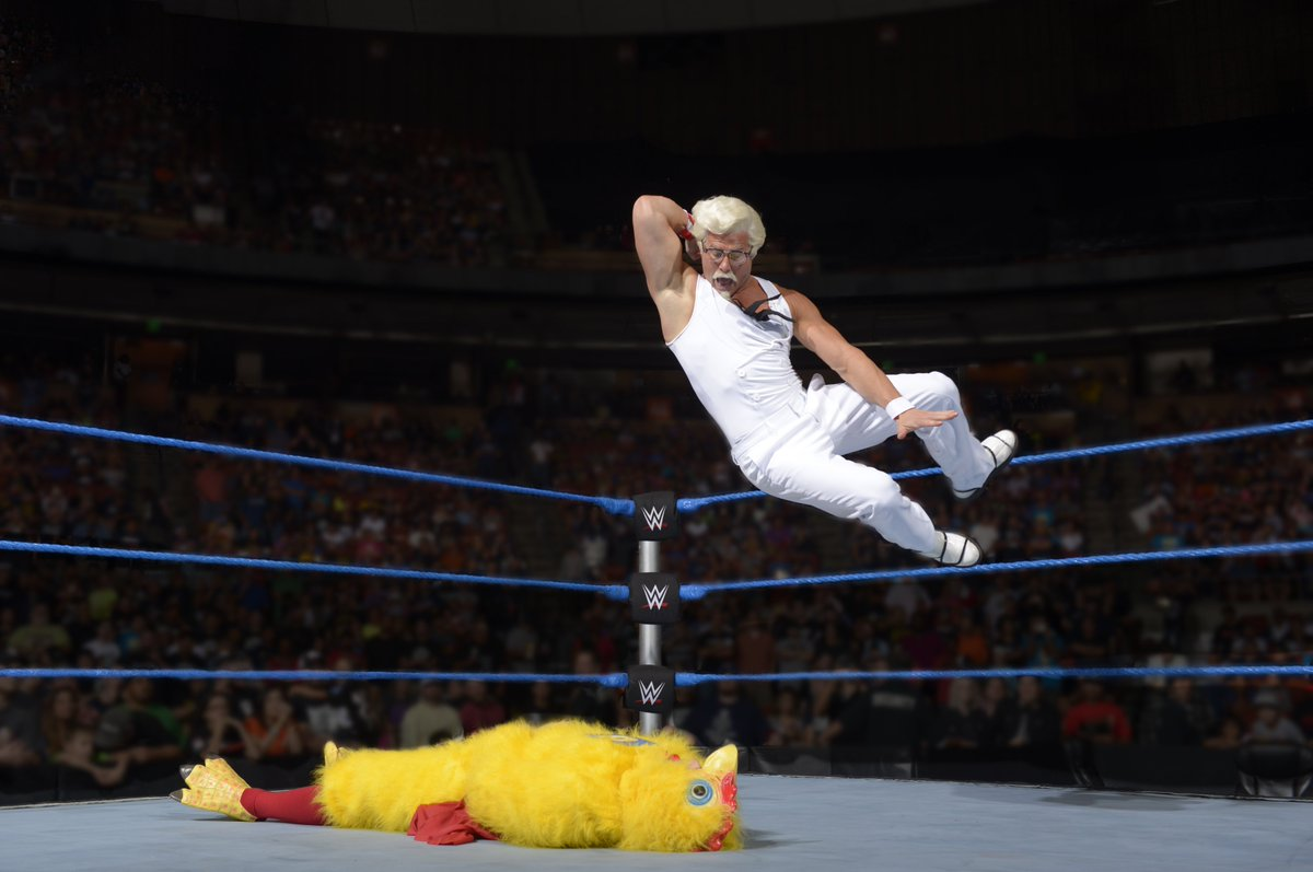My fried chicken now comes with a complimentary elbow drop! #SummerSlam