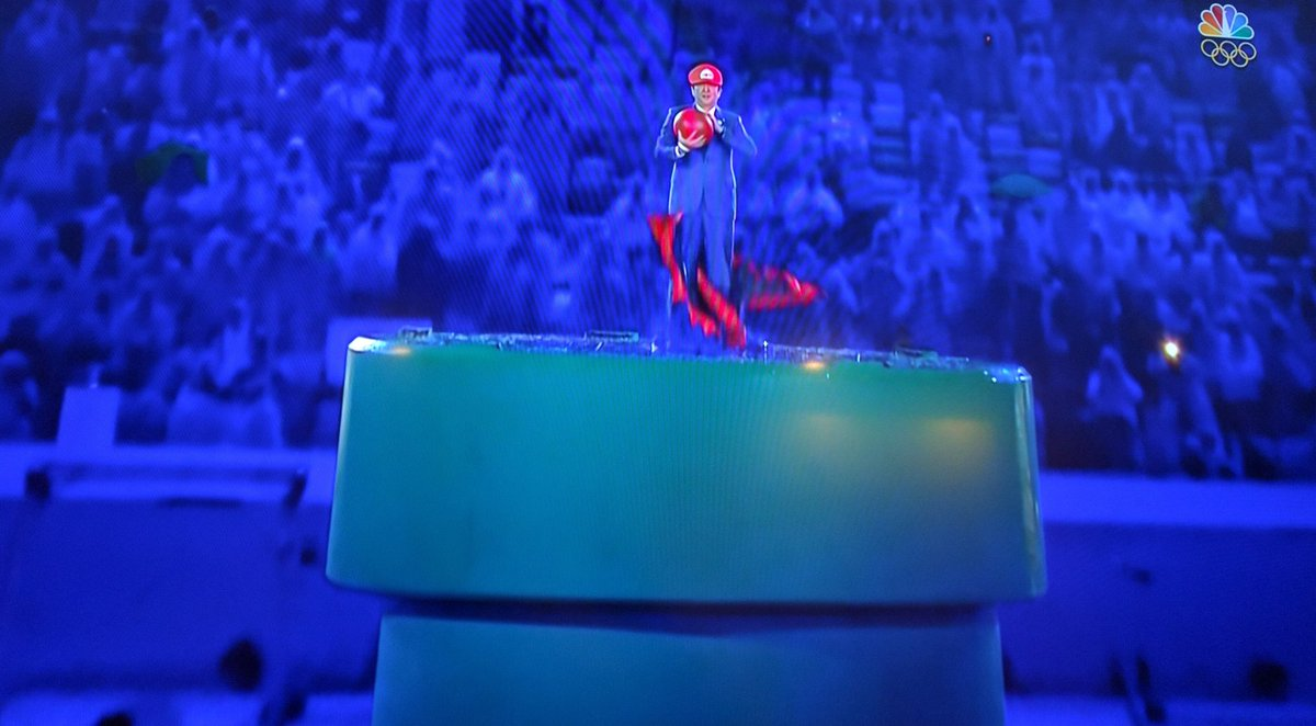 I can't say that I expected the Prime Minister of Japan to enter the #Olympics closing ceremonies via Warp Pipe https://t.co/QyOVohZSEW