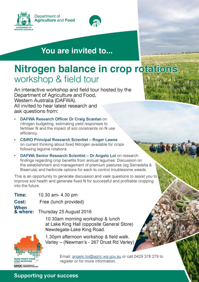 @DAF_WA w/shop in Lake King Thurs #nitrogenbalance following legumes, current research,Q&A,plseRT #LakesGrowerGroup https://t.co/1D6KQODC5q