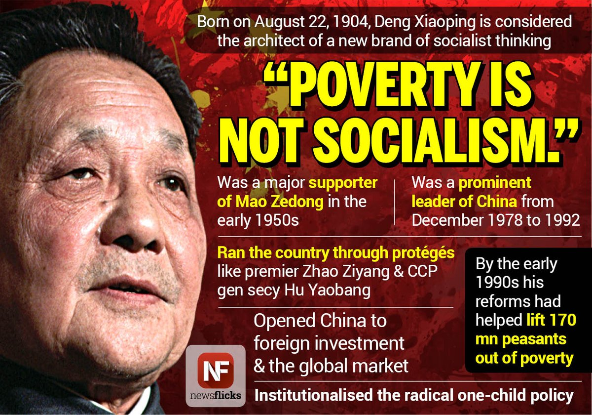 economic reforms of deng xiaoping Best answer: improving relations with the outside world was the second of two important philosophical shifts outlined in deng's program of reform termed gaige kaifang (lit reforms and openness) the domestic social, political, and most notably, economic systems would undergo significant changes during deng's time as leader.