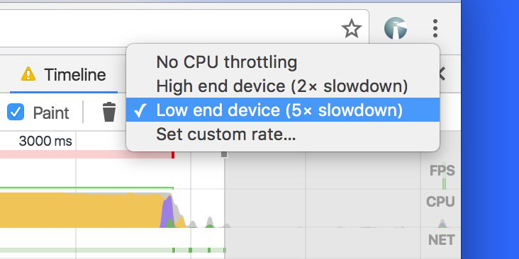 CPU throttling is now enabled by default in @ChromeDevTools