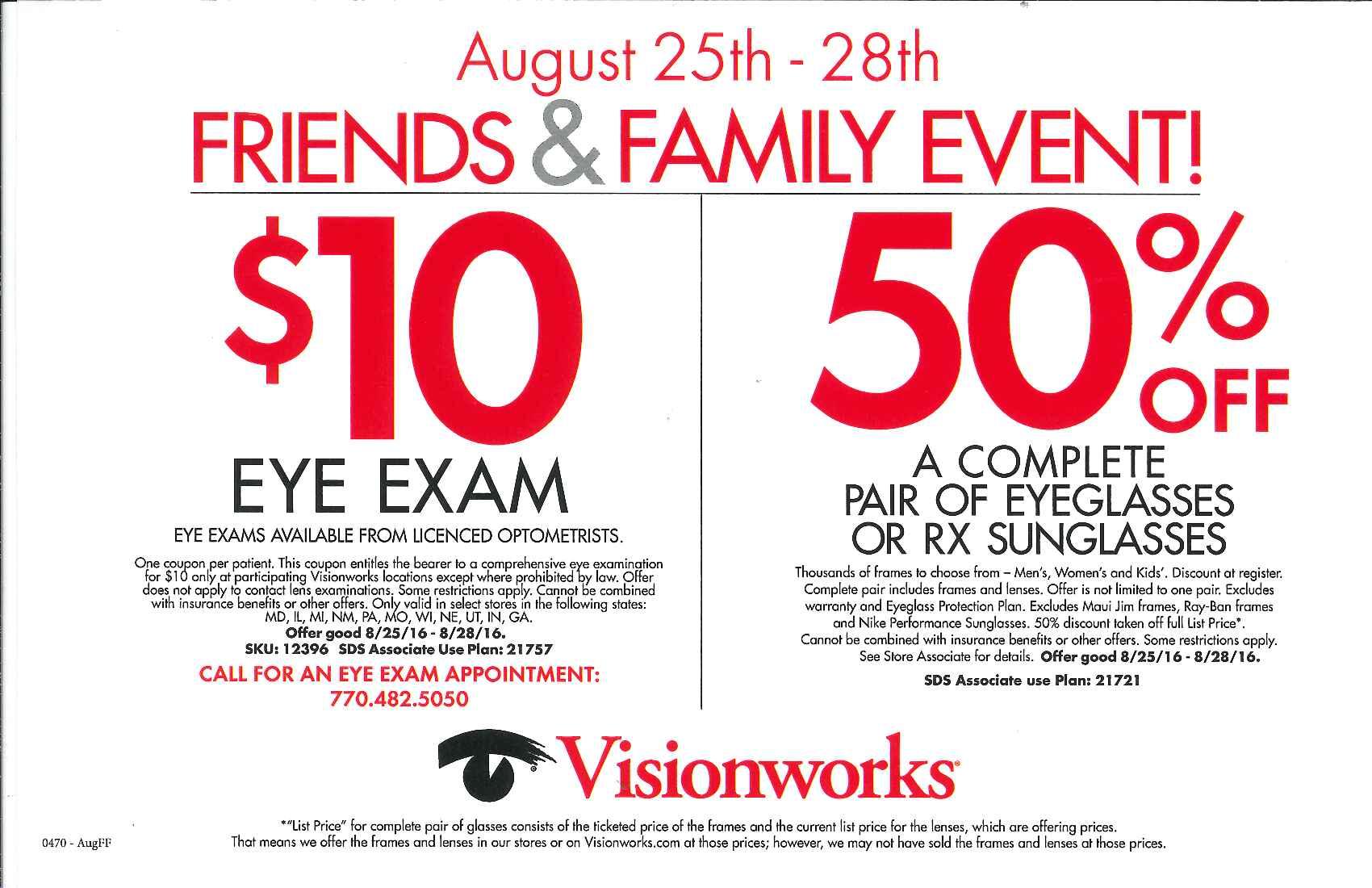 mall at stonecrest on twitter visionworks shopstonecrest friends family event august 25 28 httpstcoc6ohuqojqd