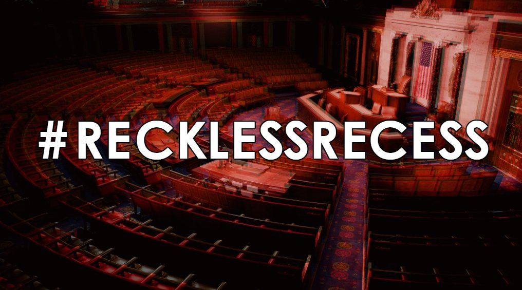 End this #RecklessRecess, come back to town, and address #Zika crisis, @HouseGOP! America needs you to #doyourjob! https://t.co/dRreJUC7ui