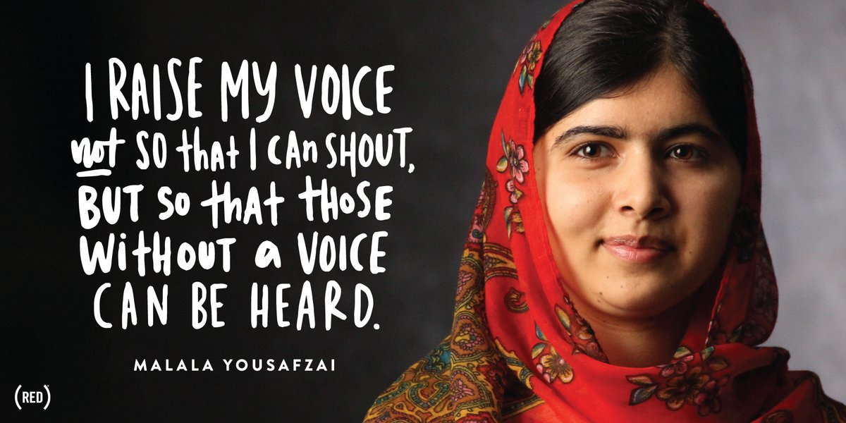 #MondayMotivation @MalalaFund  Use your voice --> https://t.co/8coP46y2mp https://t.co/cPC4Eeldn9