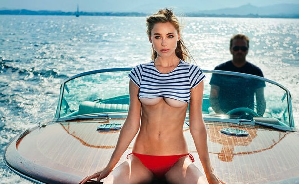 Check Out @guess Model Elizabeth Turner's Maxim Photo