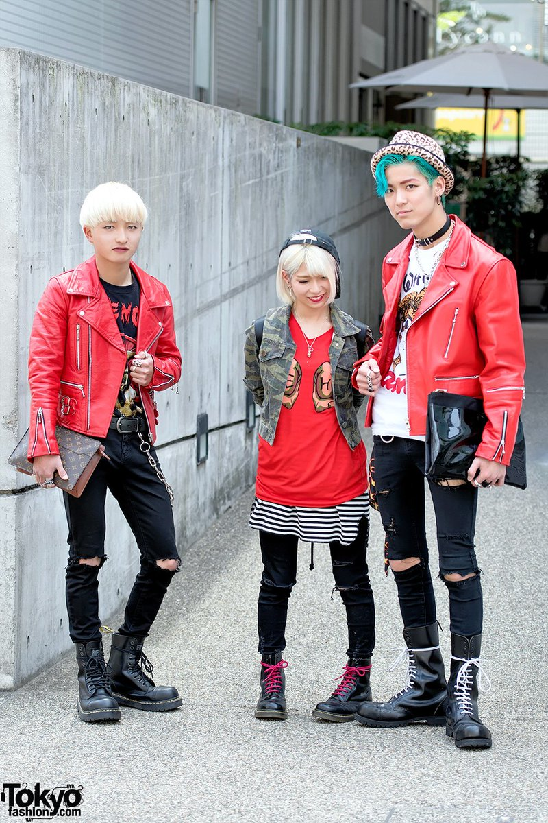 d5ee046ad80b punk inspired harajuku styles w 666 japan leather jackets uniqlo jeans amp  dr martens