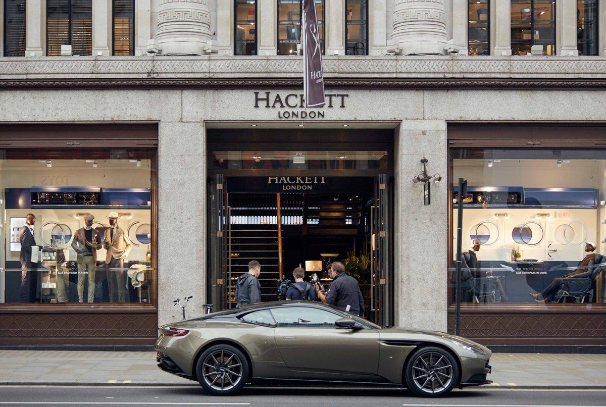 """Hackett London on Twitter: """"The new @astonmartin DB9 ...   aston martin store london"""
