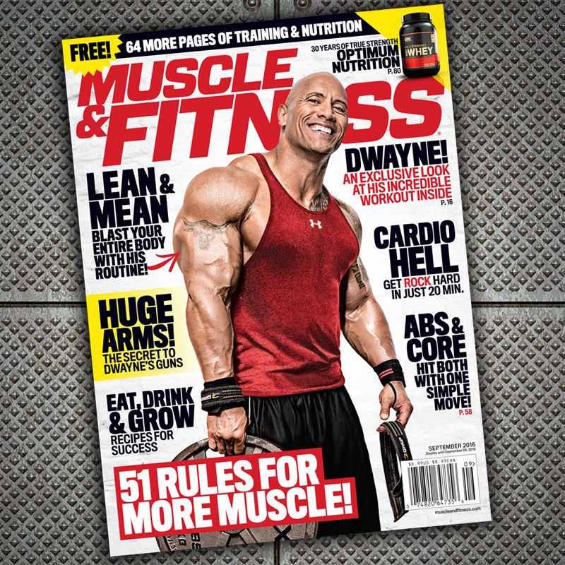 Always an honor. Thank you @muscle_fitness! Cool announcements coming at Mr Olympia. @SevenBucksProd #GlobalFitness https://t.co/zQifToAd2M
