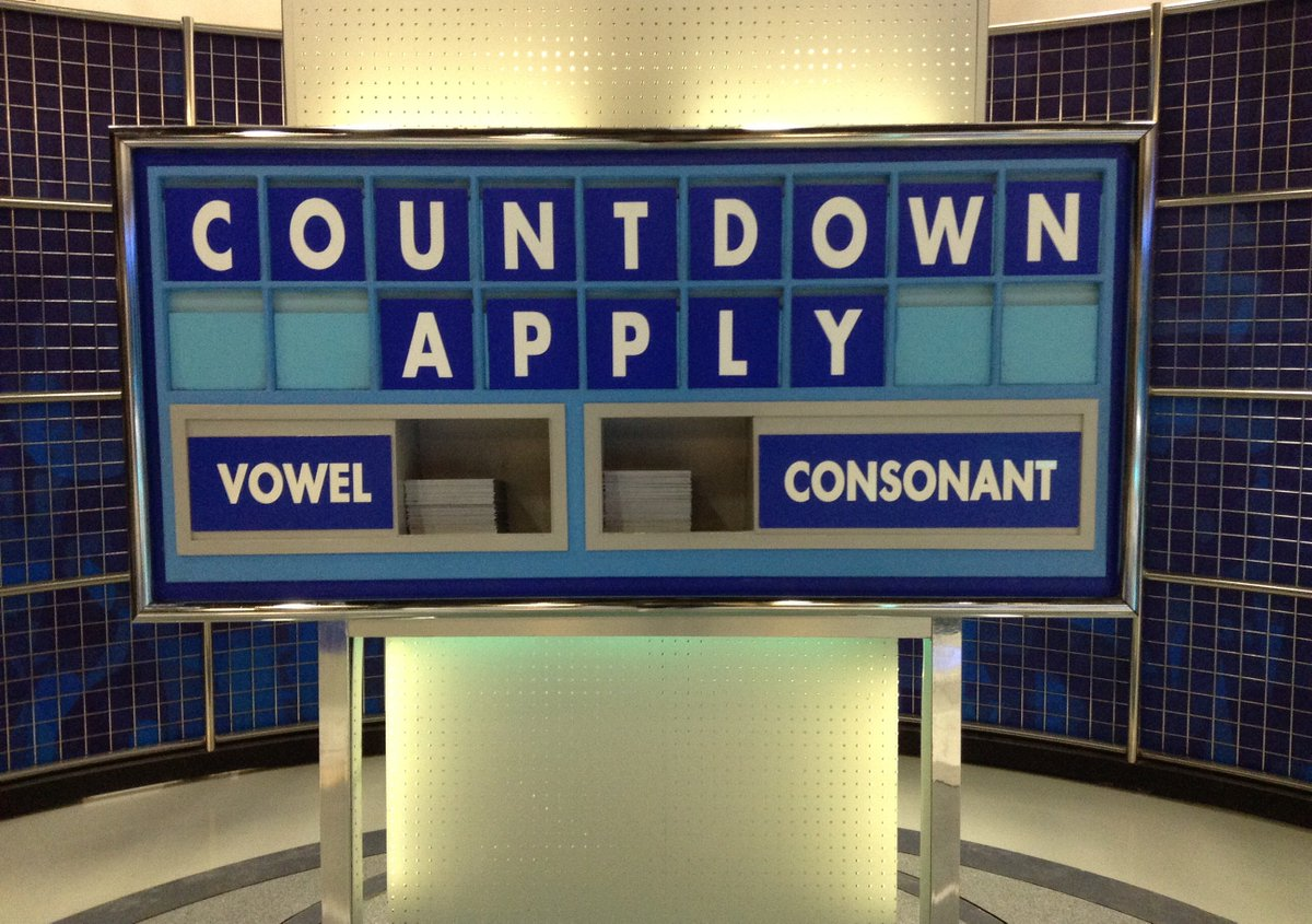 Your Countdown needs YOU! - https://t.co/JBBwaQ3wJQ @YourMediaCity @iLoveMCUK @Nick_Hewer @RachelRileyRR @susie_dent https://t.co/PvCDMECts5