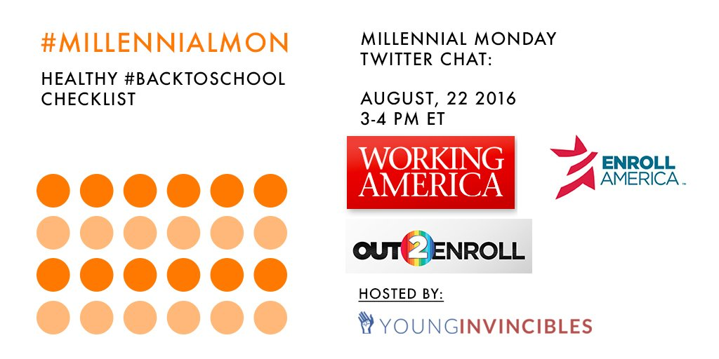 Welcome to #MillennialMon! Today's topic: Your Healthy #BacktoSchool Checklist https://t.co/bSk5FmmdDu