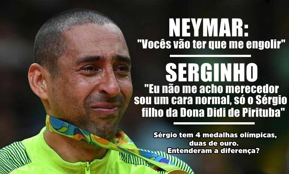 Atitudes de  neymarjr após  ouro olímpico geram comparações com Serginho 03d5fcbcc247a