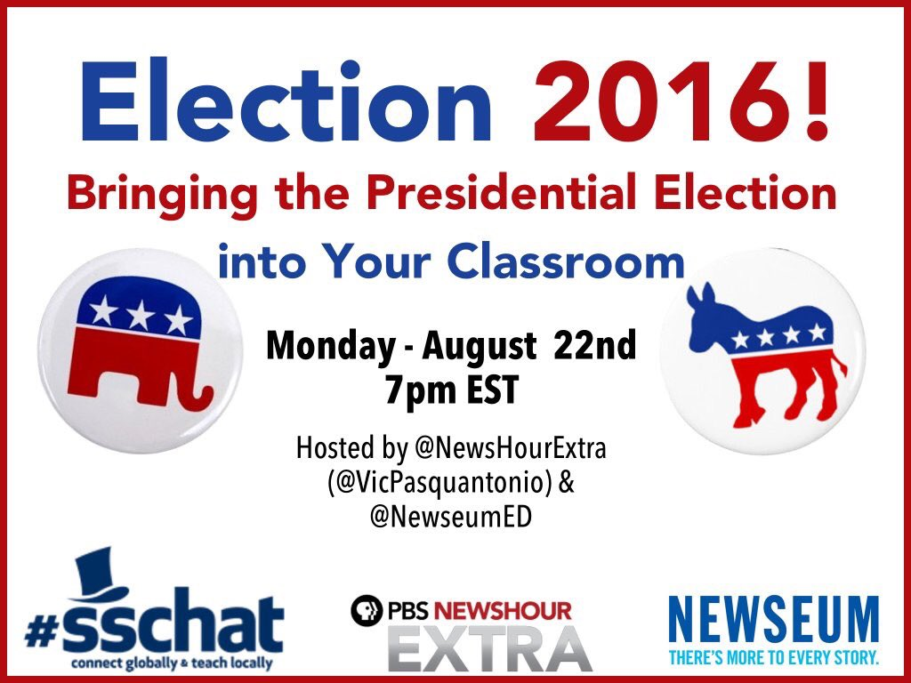 Tonight's  #sschat should be a BIG one! Join us 7 pm est #hsgovchat #sstlap @vicpasquantonio @NewseumED https://t.co/FXUCrvTSoR