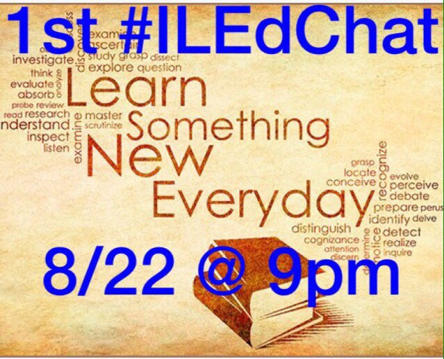 Don't forget to take part in the Illinois chat tonight #iledchat @TheSeaver1 https://t.co/yAcR1c0lSK