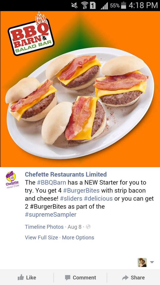 I am dead, they actually changed the burger. Chefette really tries to please wunna miserable ass bajans.