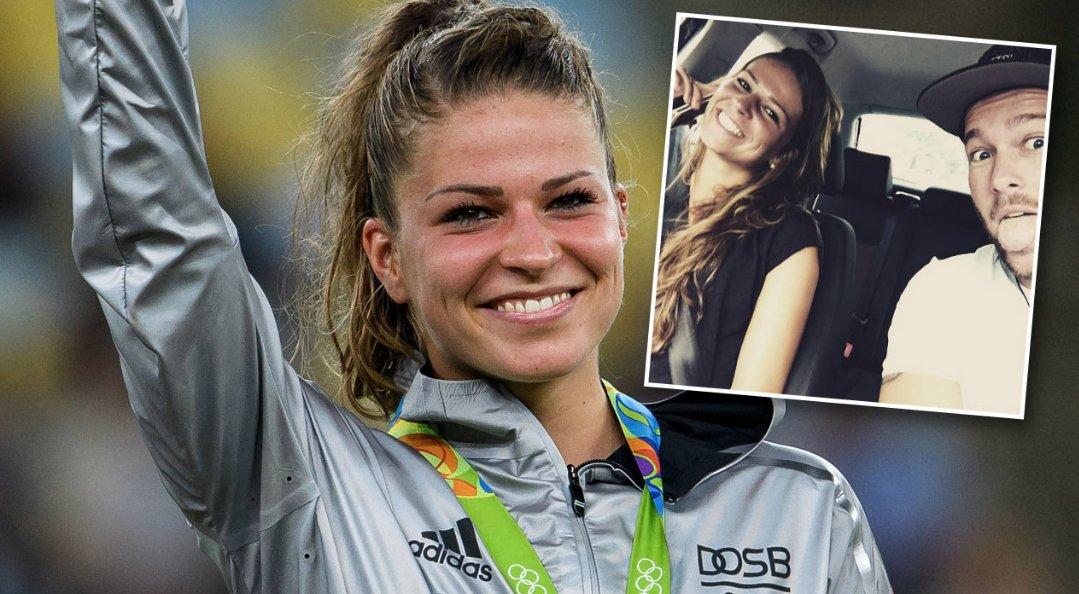 Melanie #leupolz zeigt ihren freund. fußball-gold-girl