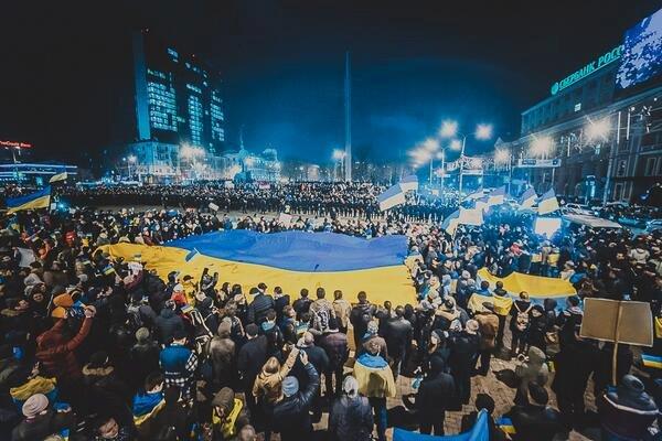 Украинский флаг стал олицетворением свободы, силы и единения нашего народа. С праздником, друзья! - Гройсман - Цензор.НЕТ 1628
