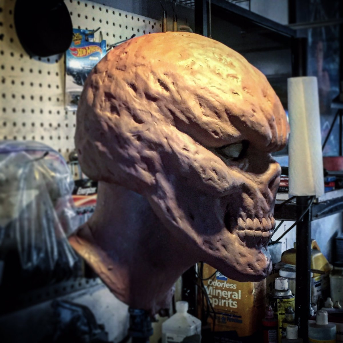 ReevzFX On Twitter About 80 Finished With My Spawn Mask Sculpt Always Loved The Burnt Face Version Over Masked