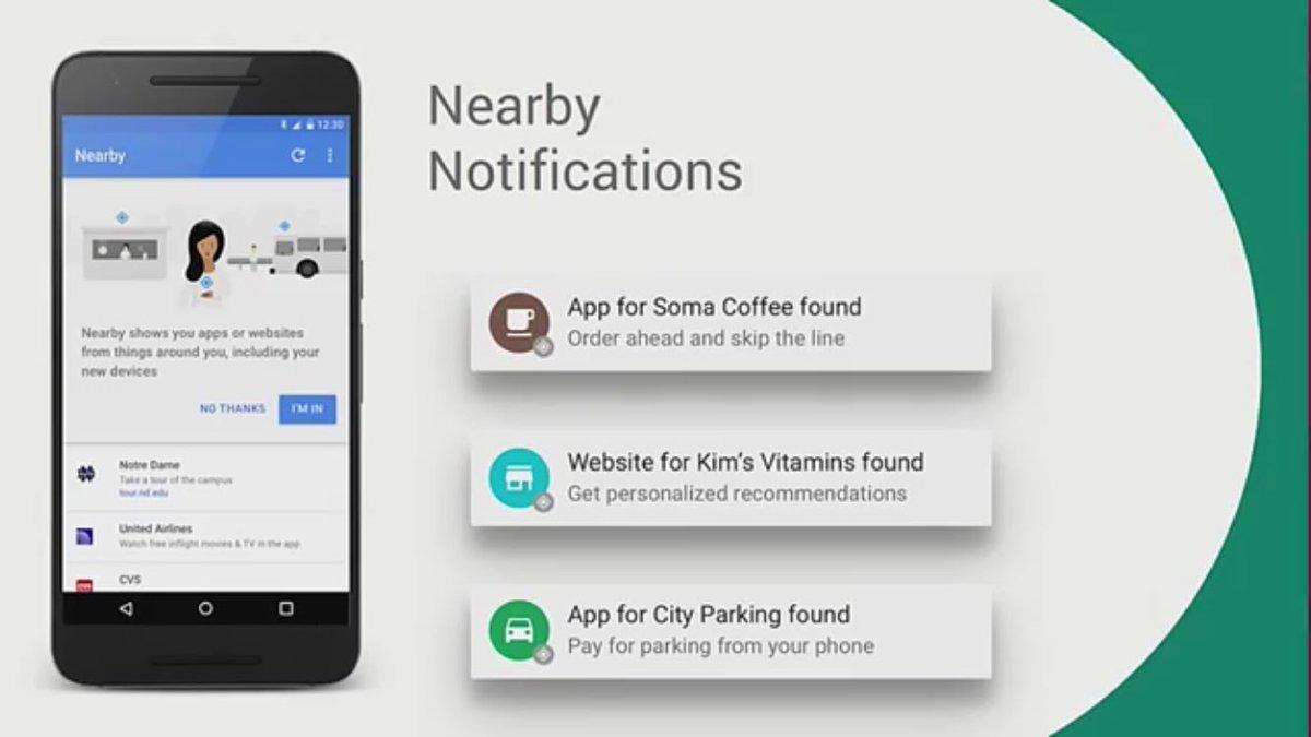 Google nearby app