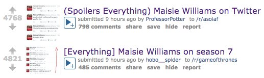 @Maisie_Williams Your fans on r/gameofthrones are calmly awaiting the next season, howsoever it may unfold. https://t.co/qwCTleBPSU