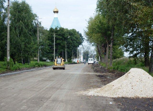 В Узловой продолжается ремонт ул. Советская
